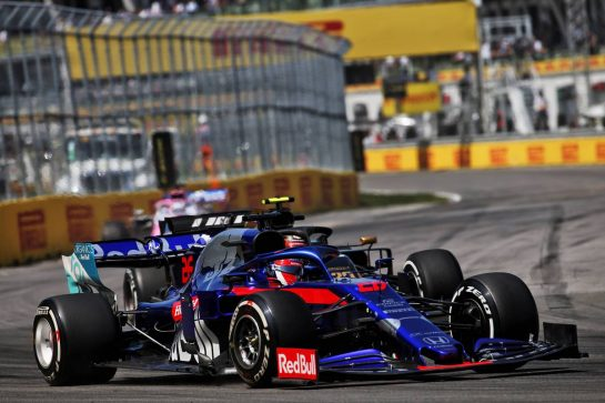 Daniil Kvyat (RUS) Scuderia Toro Rosso STR14. 09.06.2019. Formula 1 World Championship, Rd 7, Canadian Grand Prix, Montreal, Canada, Race Day. - www.xpbimages.com, EMail: requests@xpbimages.com - copy of publication required for printed pictures. Every used picture is fee-liable. © Copyright: Batchelor / XPB Images