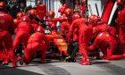 Sebastian Vettel (GER) Ferrari SF90 makes a pit stop.