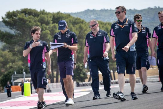 Lance Stroll (CDN) Racing Point F1 Team walks the circuit with the team.