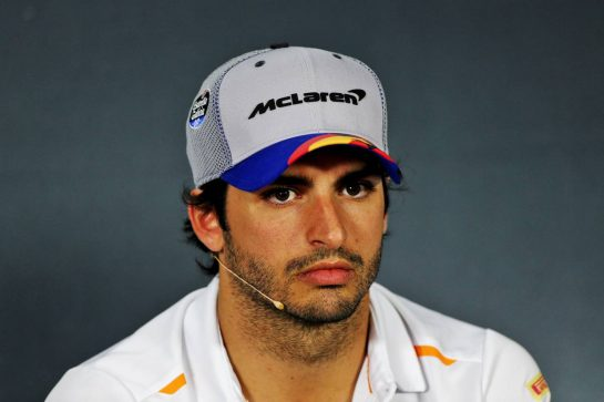 Carlos Sainz Jr (ESP) McLaren in the FIA Press Conference.