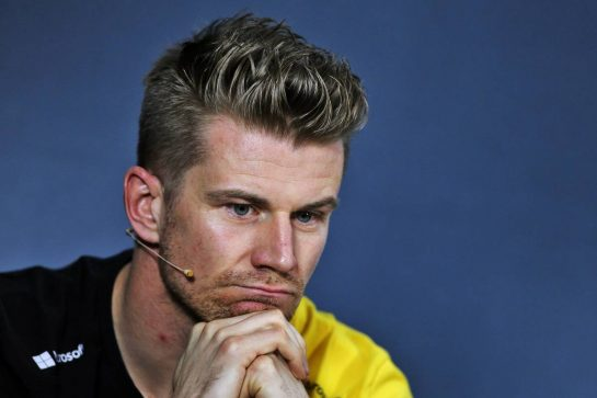 Nico Hulkenberg (GER) Renault F1 Team in the FIA Press Conference.