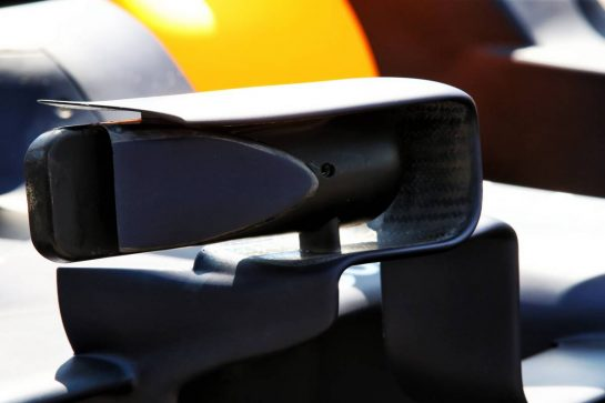 Red Bull Racing RB15 wing mirror detail. 20.06.2019. Formula 1 World Championship, Rd 8, French Grand Prix, Paul Ricard, France, Preparation Day. - www.xpbimages.com, EMail: requests@xpbimages.com - copy of publication required for printed pictures. Every used picture is fee-liable. © Copyright: Batchelor / XPB Images