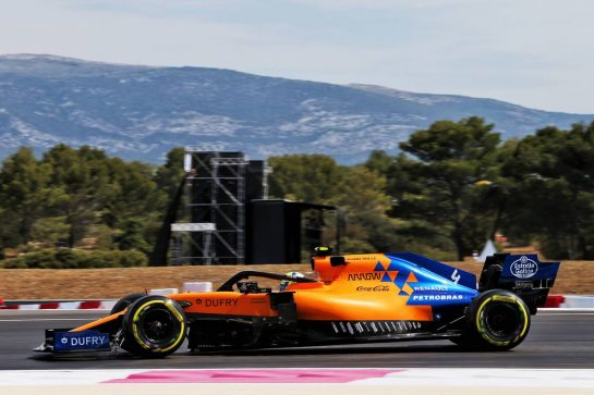 Lando Norris (GBR) McLaren MCL34. 21.06.2019. Formula 1 World Championship, Rd 8, French Grand Prix, Paul Ricard, France, Practice Day. - www.xpbimages.com, EMail: requests@xpbimages.com - copy of publication required for printed pictures. Every used picture is fee-liable. © Copyright: Moy / XPB Images