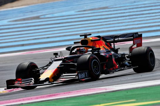 Max Verstappen (NLD) Red Bull Racing RB15. 21.06.2019. Formula 1 World Championship, Rd 8, French Grand Prix, Paul Ricard, France, Practice Day. - www.xpbimages.com, EMail: requests@xpbimages.com - copy of publication required for printed pictures. Every used picture is fee-liable. © Copyright: Moy / XPB Images