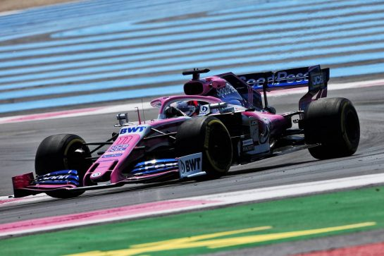 Sergio Perez (MEX) Racing Point F1 Team RP19. 21.06.2019. Formula 1 World Championship, Rd 8, French Grand Prix, Paul Ricard, France, Practice Day. - www.xpbimages.com, EMail: requests@xpbimages.com - copy of publication required for printed pictures. Every used picture is fee-liable. © Copyright: Moy / XPB Images