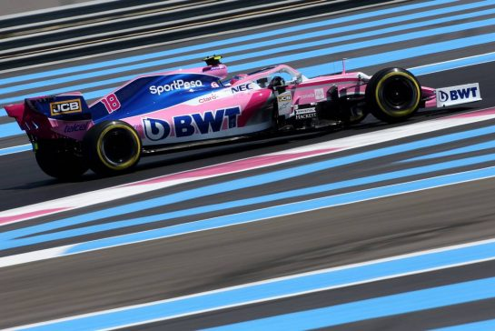Lance Stroll (CDN), Racing Point 21.06.2019. Formula 1 World Championship, Rd 8, French Grand Prix, Paul Ricard, France, Practice Day.- www.xpbimages.com, EMail: requests@xpbimages.com - copy of publication required for printed pictures. Every used picture is fee-liable. © Copyright: Charniaux / XPB Images