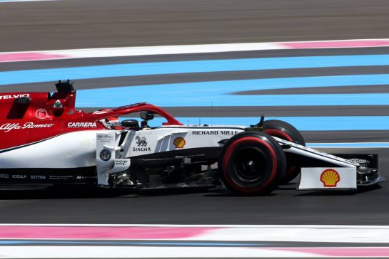 Kimi Raikkonen (FIN), Alfa Romeo Racing 21.06.2019. Formula 1 World Championship, Rd 8, French Grand Prix, Paul Ricard, France, Practice Day.- www.xpbimages.com, EMail: requests@xpbimages.com - copy of publication required for printed pictures. Every used picture is fee-liable. © Copyright: Charniaux / XPB Images