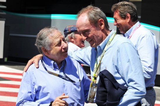 (L to R): Jean Todt (FRA) FIA President with Jean-Claude Killy (FRA) Former Ski Racer. 23.06.2019. Formula 1 World Championship, Rd 8, French Grand Prix, Paul Ricard, France, Race Day. - www.xpbimages.com, EMail: requests@xpbimages.com - copy of publication required for printed pictures. Every used picture is fee-liable. © Copyright: Moy / XPB Images