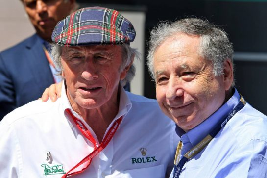 (L to R): Jackie Stewart (GBR) with Jean Todt (FRA) FIA President. 23.06.2019. Formula 1 World Championship, Rd 8, French Grand Prix, Paul Ricard, France, Race Day. - www.xpbimages.com, EMail: requests@xpbimages.com - copy of publication required for printed pictures. Every used picture is fee-liable. © Copyright: Moy / XPB Images