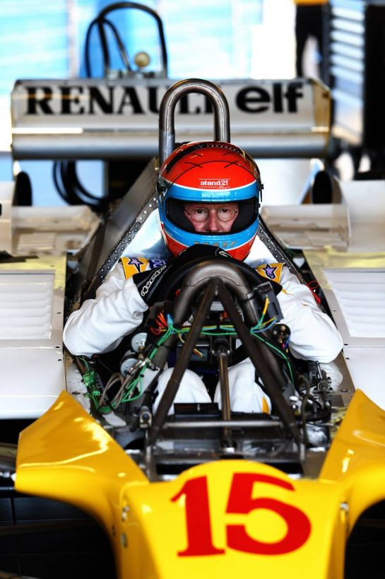 Jean-Pierre Jabouille (FRA) in the 1979 Renault RS10. 23.06.2019. Formula 1 World Championship, Rd 8, French Grand Prix, Paul Ricard, France, Race Day. - www.xpbimages.com, EMail: requests@xpbimages.com - copy of publication required for printed pictures. Every used picture is fee-liable. © Copyright: Moy / XPB Images