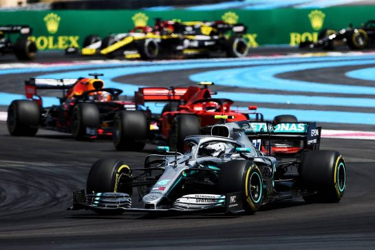 Valtteri Bottas (FIN) Mercedes AMG F1 W10 at the start of the race. 23.06.2019. Formula 1 World Championship, Rd 8, French Grand Prix, Paul Ricard, France, Race Day. - www.xpbimages.com, EMail: requests@xpbimages.com - copy of publication required for printed pictures. Every used picture is fee-liable. © Copyright: Charniaux / XPB Images