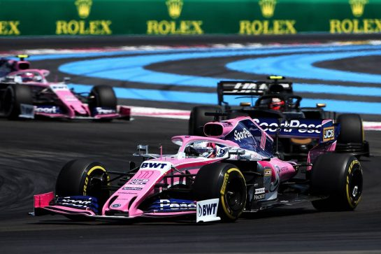 Sergio Perez (MEX) Racing Point F1 Team RP19. 23.06.2019. Formula 1 World Championship, Rd 8, French Grand Prix, Paul Ricard, France, Race Day. - www.xpbimages.com, EMail: requests@xpbimages.com - copy of publication required for printed pictures. Every used picture is fee-liable. © Copyright: Charniaux / XPB Images