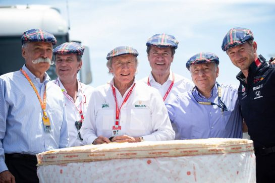 F1 celebrates the 80th birthday of Jackie Stewart (GBR). 23.06.2019. Formula 1 World Championship, Rd 8, French Grand Prix, Paul Ricard, France, Race Day.  - www.xpbimages.com, EMail: requests@xpbimages.com - copy of publication required for printed pictures. Every used picture is fee-liable. © Copyright: Bearne / XPB Images
