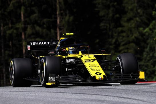 Nico Hulkenberg (GER) Renault F1 Team RS19. 28.06.2019. Formula 1 World Championship, Rd 9, Austrian Grand Prix, Spielberg, Austria, Practice Day. - www.xpbimages.com, EMail: requests@xpbimages.com - copy of publication required for printed pictures. Every used picture is fee-liable. © Copyright: Photo4 / XPB Images