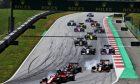 Sebastian Vettel (GER) Ferrari SF90 at the start of the race.