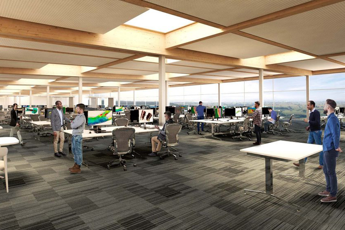 Designs showing the new Racing Point main factory facility and headquarters.