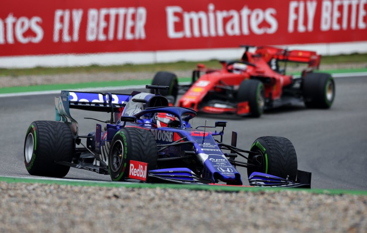 Kvyat: Run to podium was 'horror movie with black comedy'