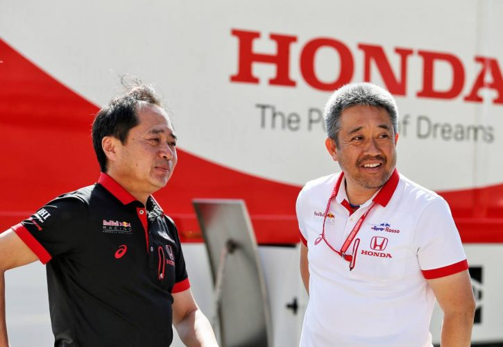 Toyoharu Tanabe (JPN) Honda Racing F1 Technical Director with Masashi Yamamoto (JPN) Honda Racing F1 Managing Director.