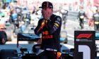 Race winner Max Verstappen (NLD) Red Bull Racing celebrates in parc ferme.
