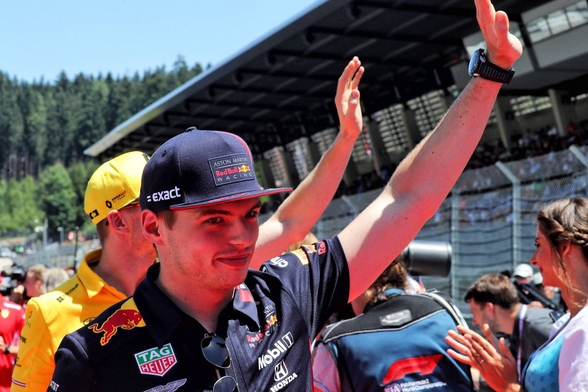 Max Verstappen (NLD) Red Bull Racing on the drivers parade.