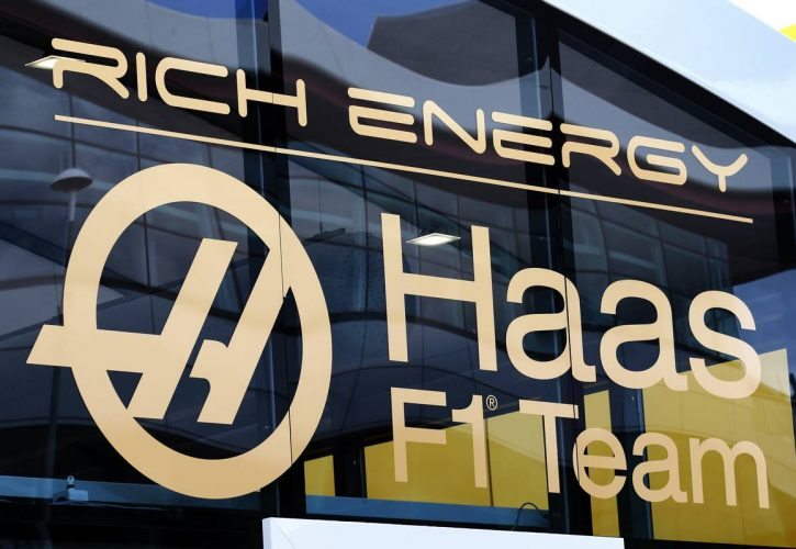 Haas F1 Team logo with Rich Energy branding.