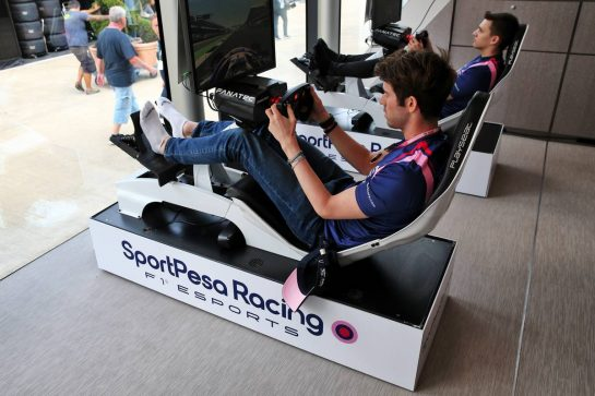 Paddock atmosphere - Esports F1 simulator. 11.07.2019. Formula 1 World Championship, Rd 10, British Grand Prix, Silverstone, England, Preparation Day. - www.xpbimages.com, EMail: requests@xpbimages.com - copy of publication required for printed pictures. Every used picture is fee-liable. © Copyright: Batchelor / XPB Images