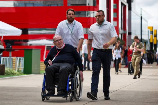 Frank Williams (GBR) Williams Team Owner. 11.07.2019. Formula 1 World Championship, Rd 10, British Grand Prix, Silverstone, England, Preparation Day.  - www.xpbimages.com, EMail: requests@xpbimages.com - copy of publication required for printed pictures. Every used picture is fee-liable. © Copyright: Rew / XPB Images