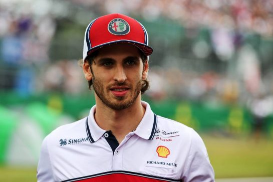 Antonio Giovinazzi (ITA) Alfa Romeo Racing. 11.07.2019. Formula 1 World Championship, Rd 10, British Grand Prix, Silverstone, England, Preparation Day. - www.xpbimages.com, EMail: requests@xpbimages.com - copy of publication required for printed pictures. Every used picture is fee-liable. © Copyright: Batchelor / XPB Images