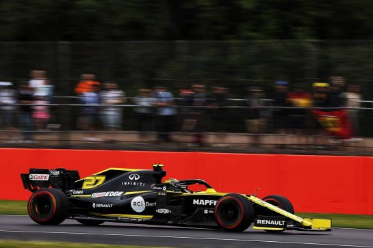 Nico Hulkenberg (GER) Renault F1 Team RS19. 13.07.2019. Formula 1 World Championship, Rd 10, British Grand Prix, Silverstone, England, Qualifying Day. - www.xpbimages.com, EMail: requests@xpbimages.com - copy of publication required for printed pictures. Every used picture is fee-liable. © Copyright: Batchelor / XPB Images