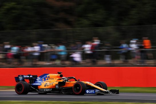 Carlos Sainz Jr (ESP) McLaren MCL34. 13.07.2019. Formula 1 World Championship, Rd 10, British Grand Prix, Silverstone, England, Qualifying Day. - www.xpbimages.com, EMail: requests@xpbimages.com - copy of publication required for printed pictures. Every used picture is fee-liable. © Copyright: Batchelor / XPB Images