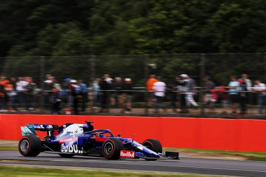 Daniil Kvyat (RUS) Scuderia Toro Rosso STR14. 13.07.2019. Formula 1 World Championship, Rd 10, British Grand Prix, Silverstone, England, Qualifying Day. - www.xpbimages.com, EMail: requests@xpbimages.com - copy of publication required for printed pictures. Every used picture is fee-liable. © Copyright: Batchelor / XPB Images