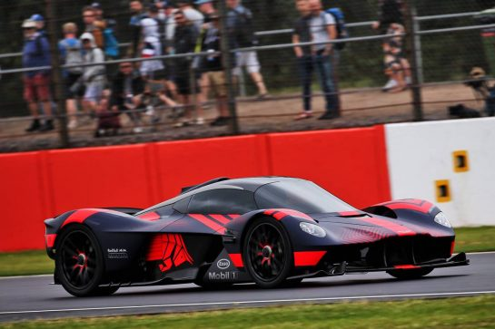 The Aston Martin Valkyrie. 13.07.2019. Formula 1 World Championship, Rd 10, British Grand Prix, Silverstone, England, Qualifying Day. - www.xpbimages.com, EMail: requests@xpbimages.com - copy of publication required for printed pictures. Every used picture is fee-liable. © Copyright: Batchelor / XPB Images