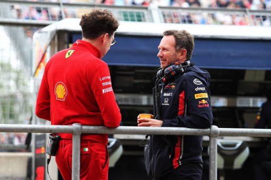 (L to R): Mattia Binotto (ITA) Ferrari Team Principal with Christian Horner (GBR) Red Bull Racing Team Principal.