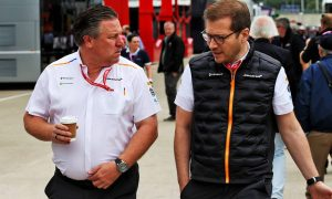Zak Brown (USA) McLaren Executive Director with Andreas Seidl, McLaren Managing Director. 13.07.2019