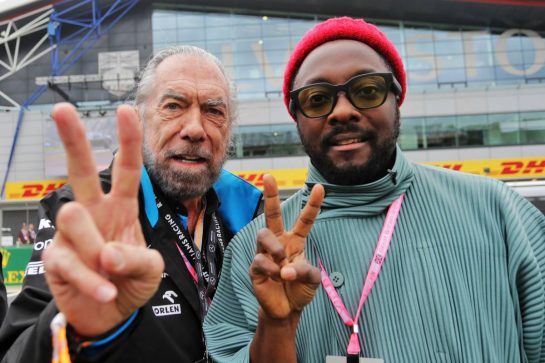 John Paul DeJoria (USA) ROK Group Co-Founder - Williams Racing guest with will.i.am (USA) Black Eyed Peas.