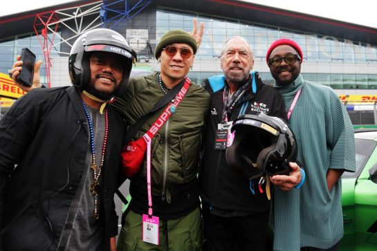 (L to R): apl.de.ap (USA) Black Eyed Peas; Taboo (USA) Black Eyed Peas; John Paul DeJoria (USA) ROK Group Co-Founder - Williams Racing guest; will.i.am (USA) Black Eyed Peas.