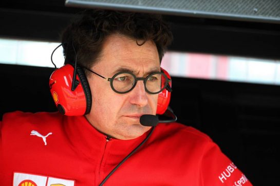 Mattia Binotto (ITA) Ferrari Team Principal. 13.07.2019. Formula 1 World Championship, Rd 10, British Grand Prix, Silverstone, England, Qualifying Day. - www.xpbimages.com, EMail: requests@xpbimages.com - copy of publication required for printed pictures. Every used picture is fee-liable. © Copyright: Batchelor / XPB Images