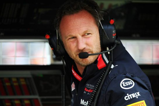 Christian Horner (GBR) Red Bull Racing Team Principal. 13.07.2019. Formula 1 World Championship, Rd 10, British Grand Prix, Silverstone, England, Qualifying Day. - www.xpbimages.com, EMail: requests@xpbimages.com - copy of publication required for printed pictures. Every used picture is fee-liable. © Copyright: Batchelor / XPB Images