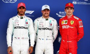 Brilliant Bottas narrowly beats Hamilton to Silverstone pole