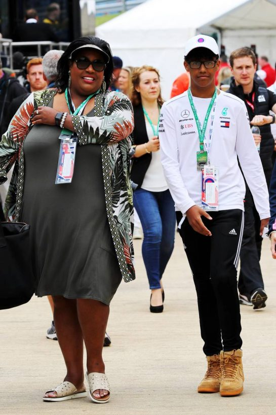 Alison Hammond (GBR) Television Presenter with her son Aiden.