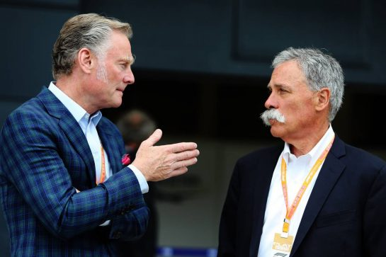 (L to R): Sean Bratches (USA) Formula 1 Managing Director, Commercial Operations with Chase Carey (USA) Formula One Group Chairman.