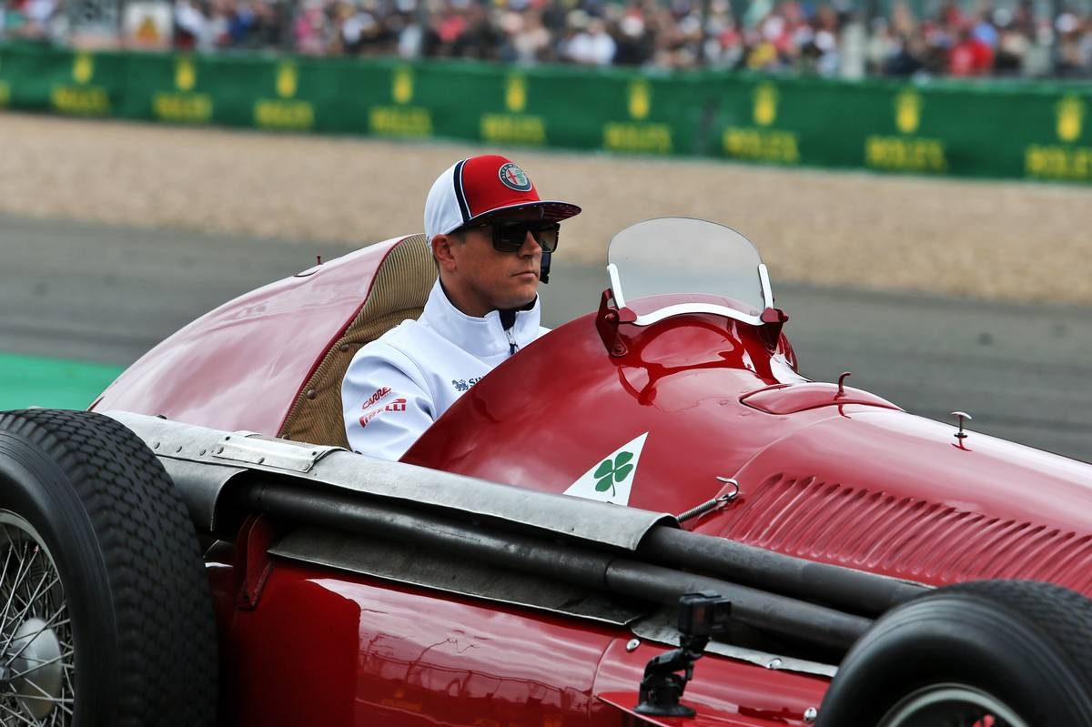 Kimi Raikkonen (FIN) Alfa Romeo Racing on the drivers parade.
