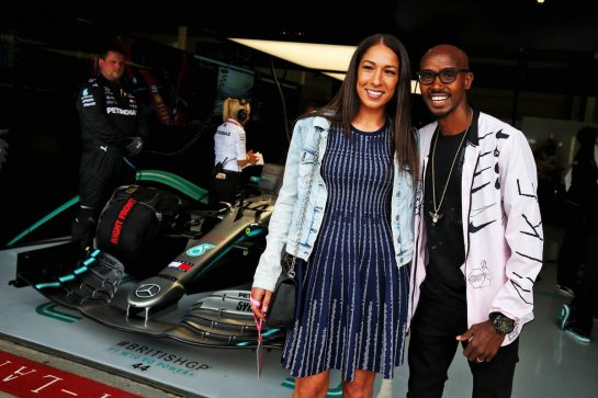 Sir Mo Farah (GBR) Athlete with his wife Lady Tania Farah (GBR).
