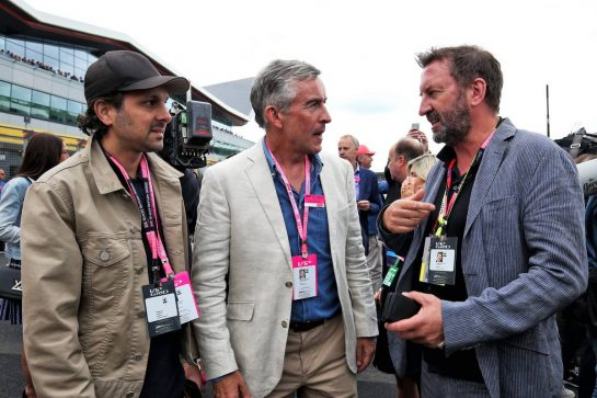 Steve Coogan (GBR) Comedian (Centre) with Lee Mack (GBR) Comedian (Right).