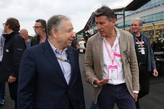 Jean Todt (FRA) FIA President with Lord Sebastian Coe (GBR)