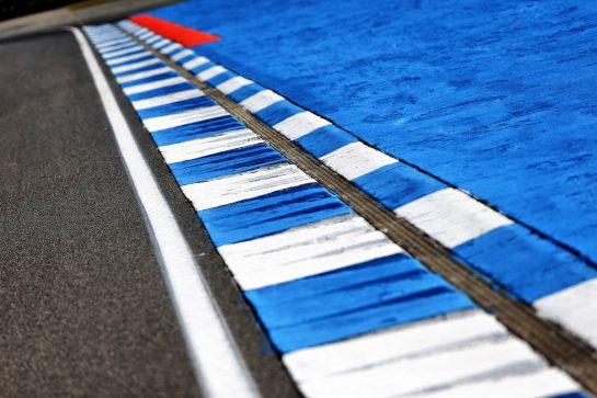 Circuit atmosphere - kerb detail. 25.07.2019. Formula 1 World Championship, Rd 11, German Grand Prix, Hockenheim, Germany, Preparation Day. - www.xpbimages.com, EMail: requests@xpbimages.com - copy of publication required for printed pictures. Every used picture is fee-liable. © Copyright: Moy / XPB Images