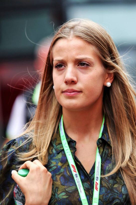 Giada Gianni (ITA) girlfriend of Charles Leclerc (MON) Ferrari. 28.07.2019. Formula 1 World Championship, Rd 11, German Grand Prix, Hockenheim, Germany, Race Day. - www.xpbimages.com, EMail: requests@xpbimages.com - copy of publication required for printed pictures. Every used picture is fee-liable. © Copyright: Moy / XPB Images