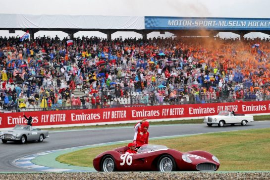 Charles Leclerc (MON) Ferrari on the drivers parade. 28.07.2019. Formula 1 World Championship, Rd 11, German Grand Prix, Hockenheim, Germany, Race Day. - www.xpbimages.com, EMail: requests@xpbimages.com - copy of publication required for printed pictures. Every used picture is fee-liable. © Copyright: Moy / XPB Images