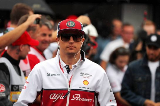 Kimi Raikkonen (FIN) Alfa Romeo Racing on the drivers parade. 28.07.2019. Formula 1 World Championship, Rd 11, German Grand Prix, Hockenheim, Germany, Race Day. - www.xpbimages.com, EMail: requests@xpbimages.com - copy of publication required for printed pictures. Every used picture is fee-liable. © Copyright: Photo4 / XPB Images