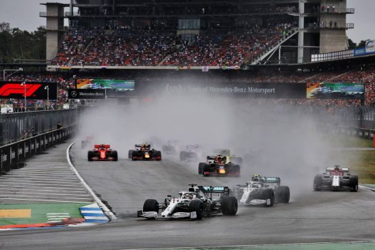 Lewis Hamilton (GBR) Mercedes AMG F1 W10 leads at the start of the race. 28.07.2019. Formula 1 World Championship, Rd 11, German Grand Prix, Hockenheim, Germany, Race Day. - www.xpbimages.com, EMail: requests@xpbimages.com - copy of publication required for printed pictures. Every used picture is fee-liable. © Copyright: Charniaux / XPB Images